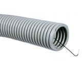 ДКС Труба ПВХ гибкая гофр. д.20мм, тяжёлая с протяжкой, 100м, цвет серый